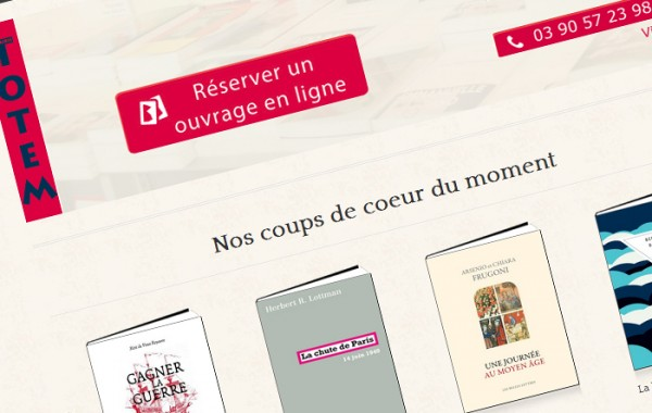 Site e-commerce de la Librairie Totem de Schlitigheim