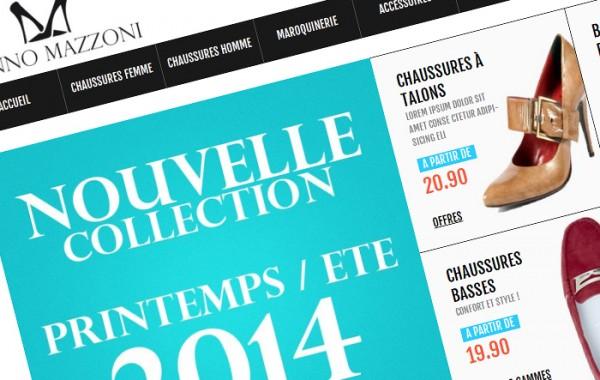 Création du site e-commerce et du logo de Ginno Mazzoni
