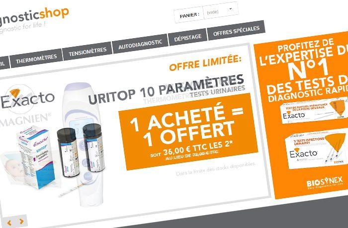 Diagnosticshop.com, site de vente en ligne pour médécins