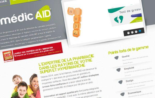 Site de marque MédicAID