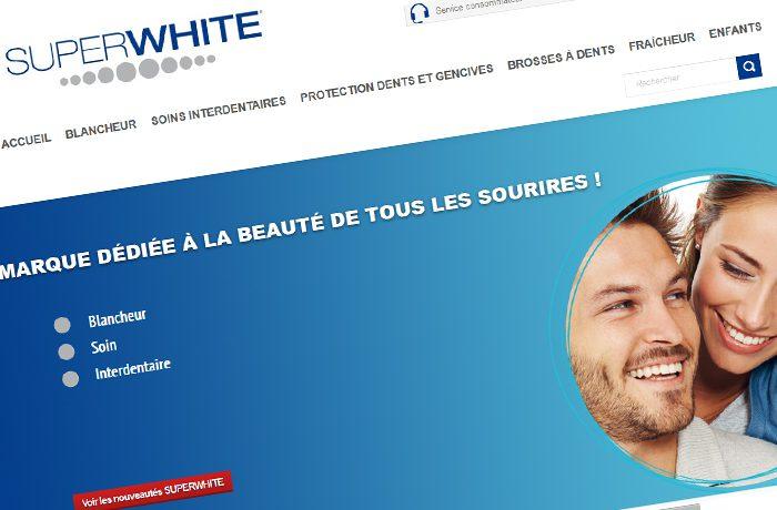 Site de la marque d'hygiène bucco-dentaire SuperWhite